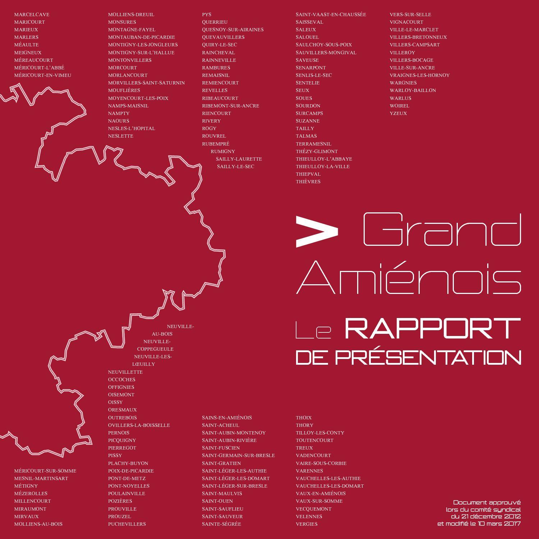 Calameo Scot Du Pays Du Grand Amienois Rapport De