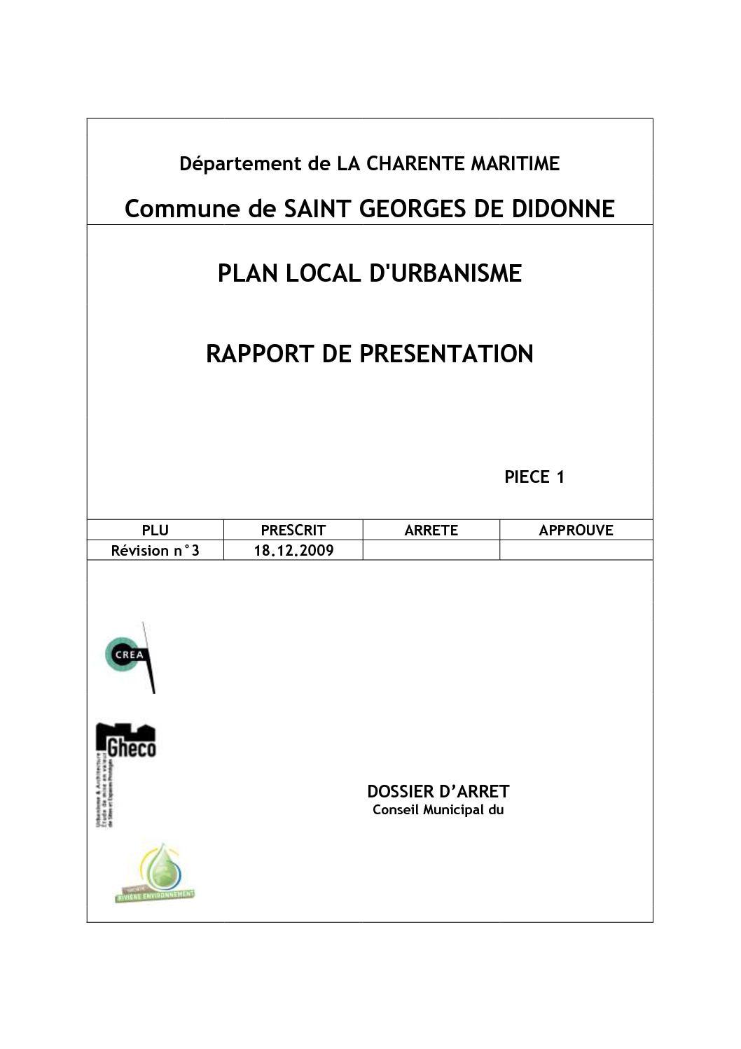 Anima Conseil Saint Georges De Didonne calaméo - 001 sgdd rapport presentation arret