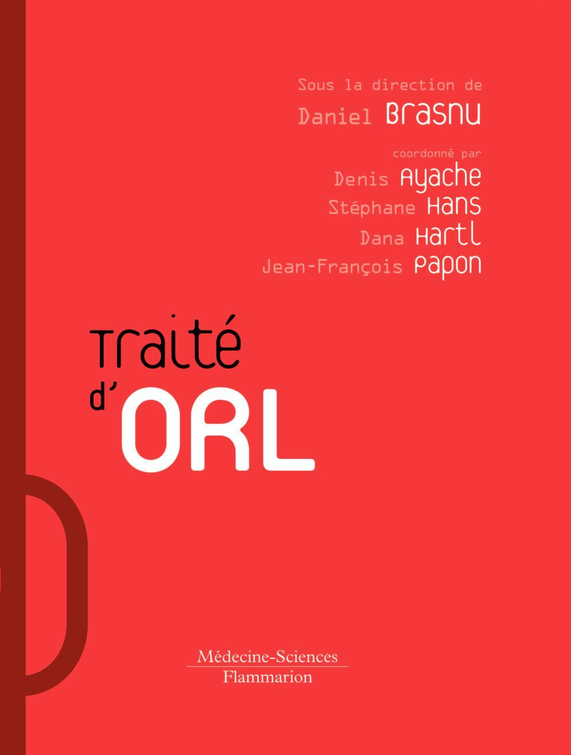 Calaméo - Traité d'O.R.L., BRASNU Daniel - Pages liminaires