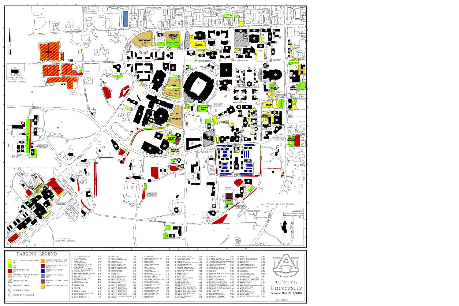 Calameo Auburn University Parking Map