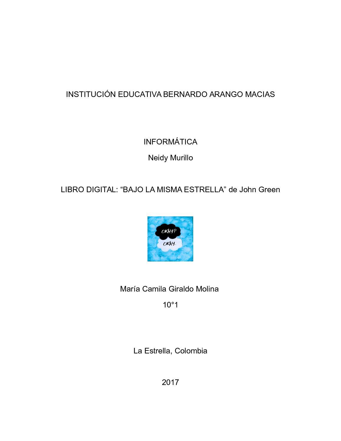 """Calaméo - Analisis literario de """"Bajo La Misma Estrella"""""""