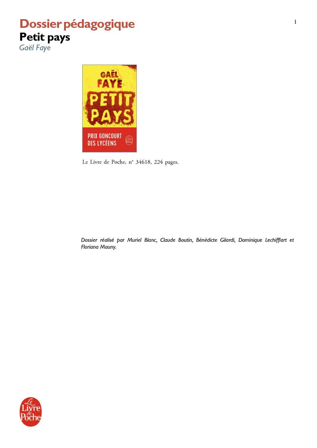 Calaméo - Dossier Pédagogique - Petit Pays De Gaël Faye