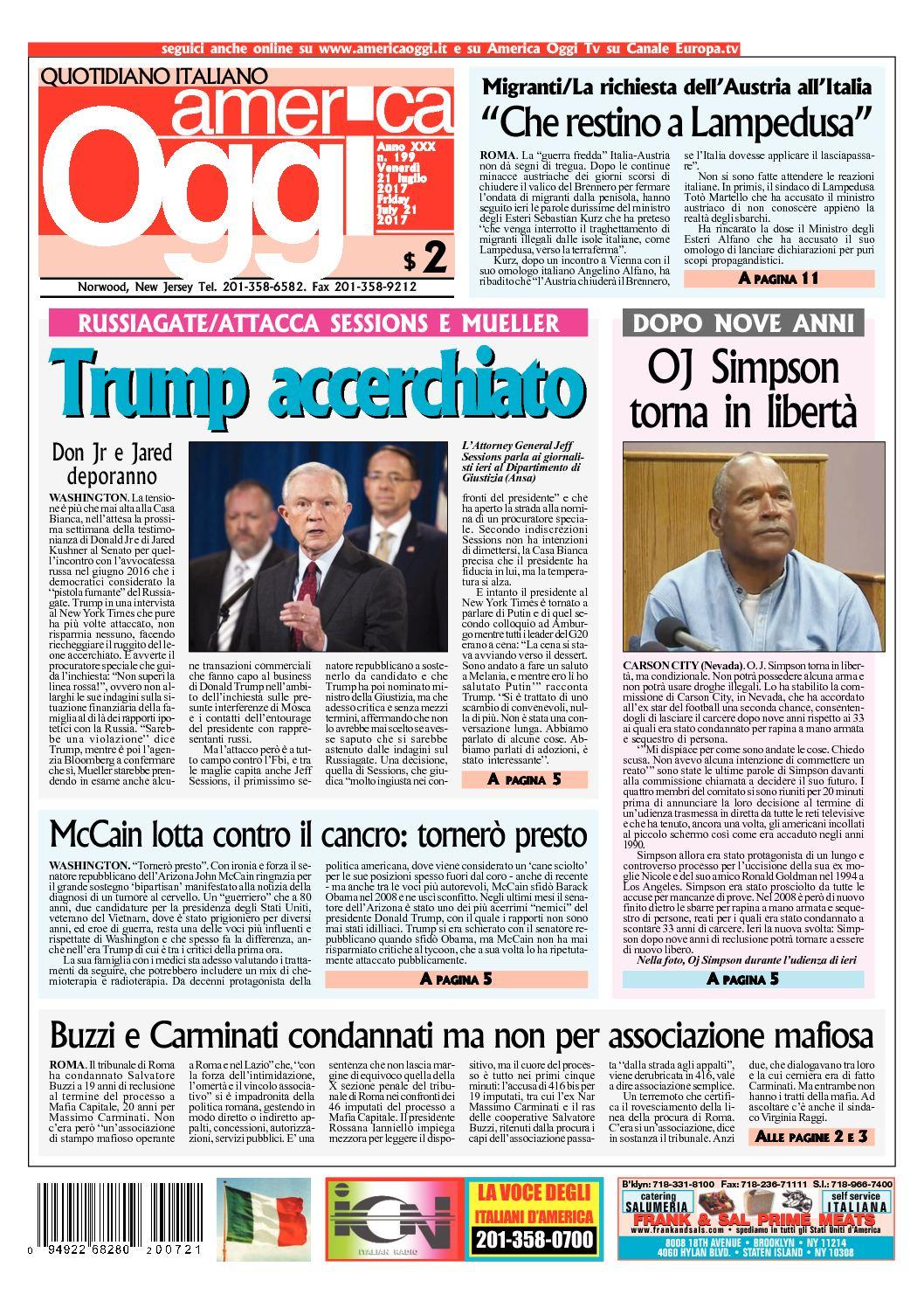 caf3f66ec8 Calaméo - America Oggi 21 Luglio 2017