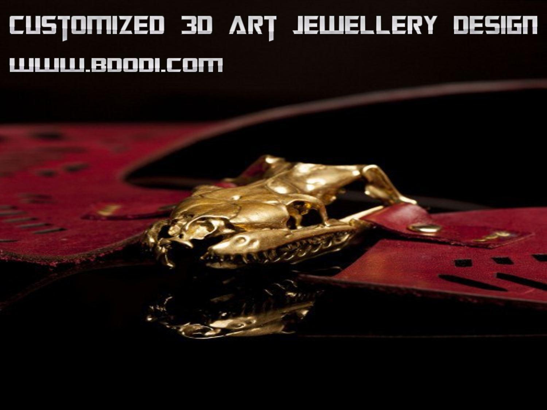 Customized 3d Art Jewellery Design