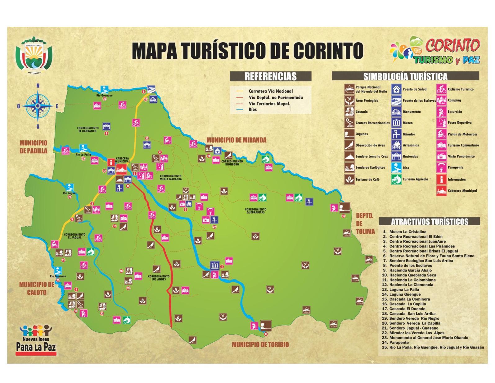 Calameo Mapa Turistico De Corinto Cauca
