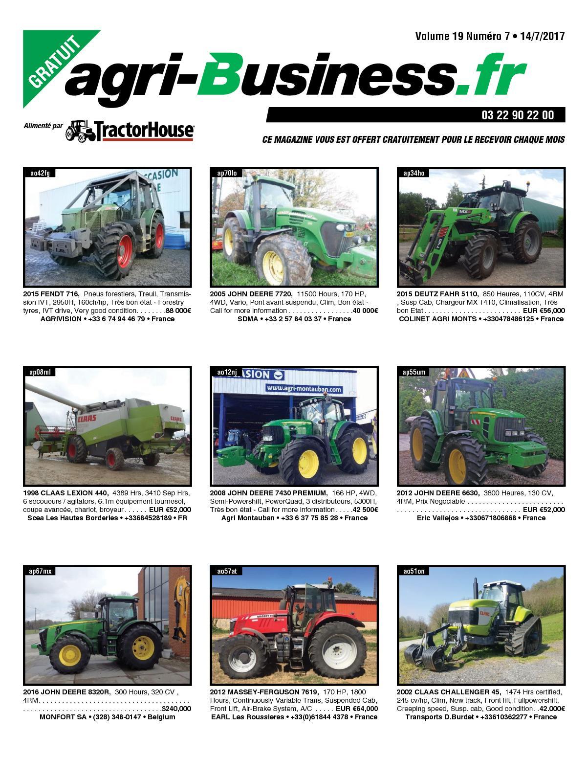 Calaméo - AGRI BUSINESS VOLUME 19 NUMÉRO 7 • 14/O7/2017