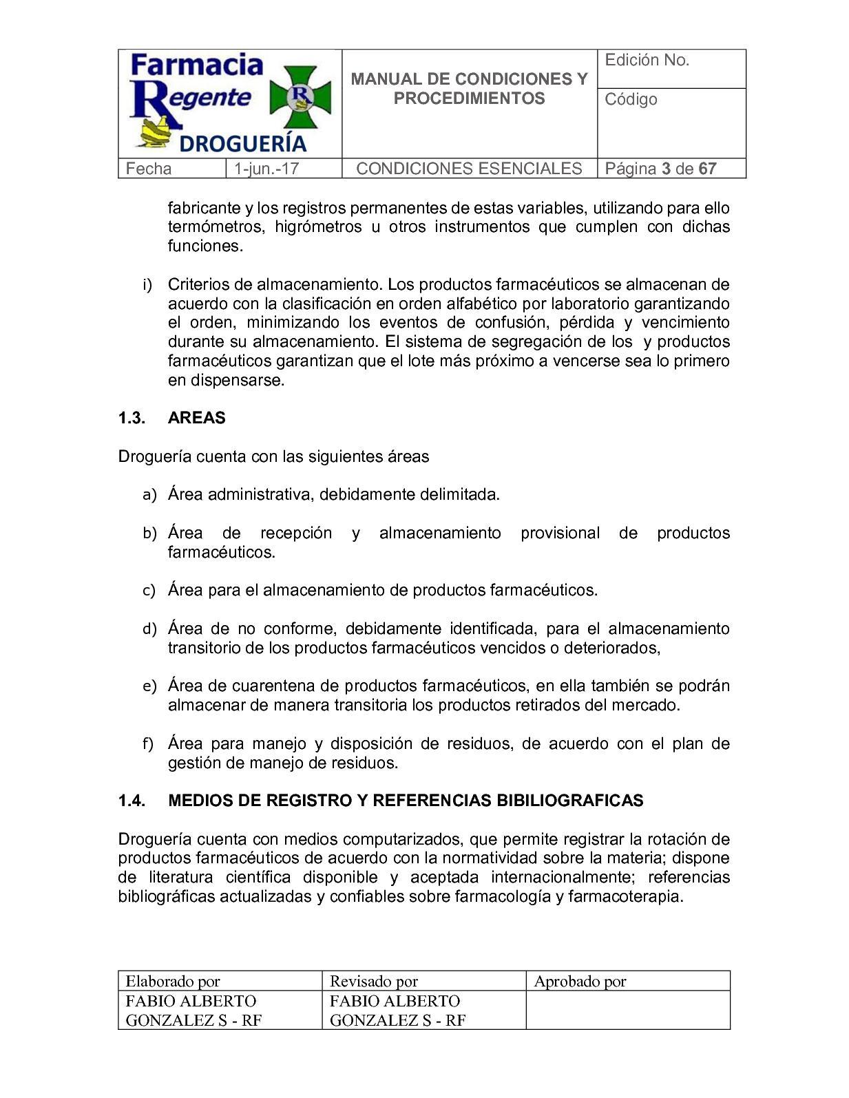 Manual De Procedimientos Drogueria Calameo Downloader # Lavado De Muebles Soacha