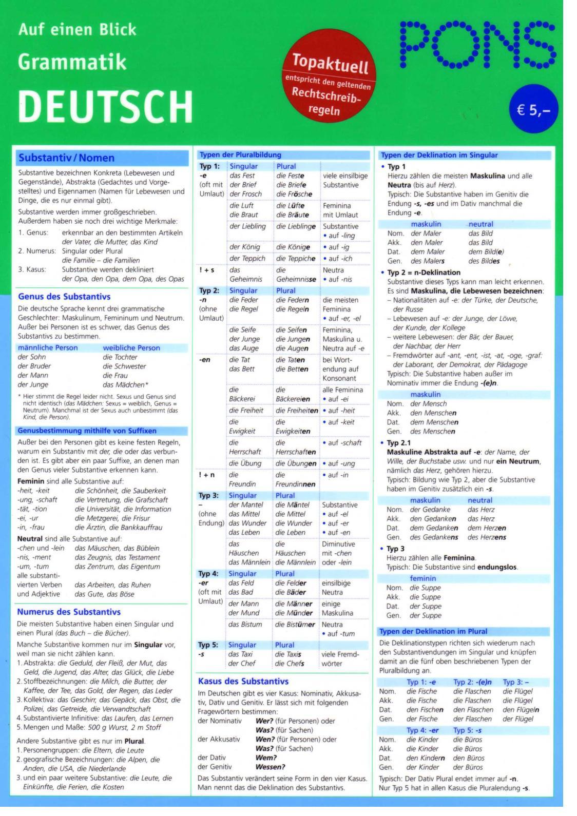 Deutsch Übungsbuch Grammatik eBook, PDF