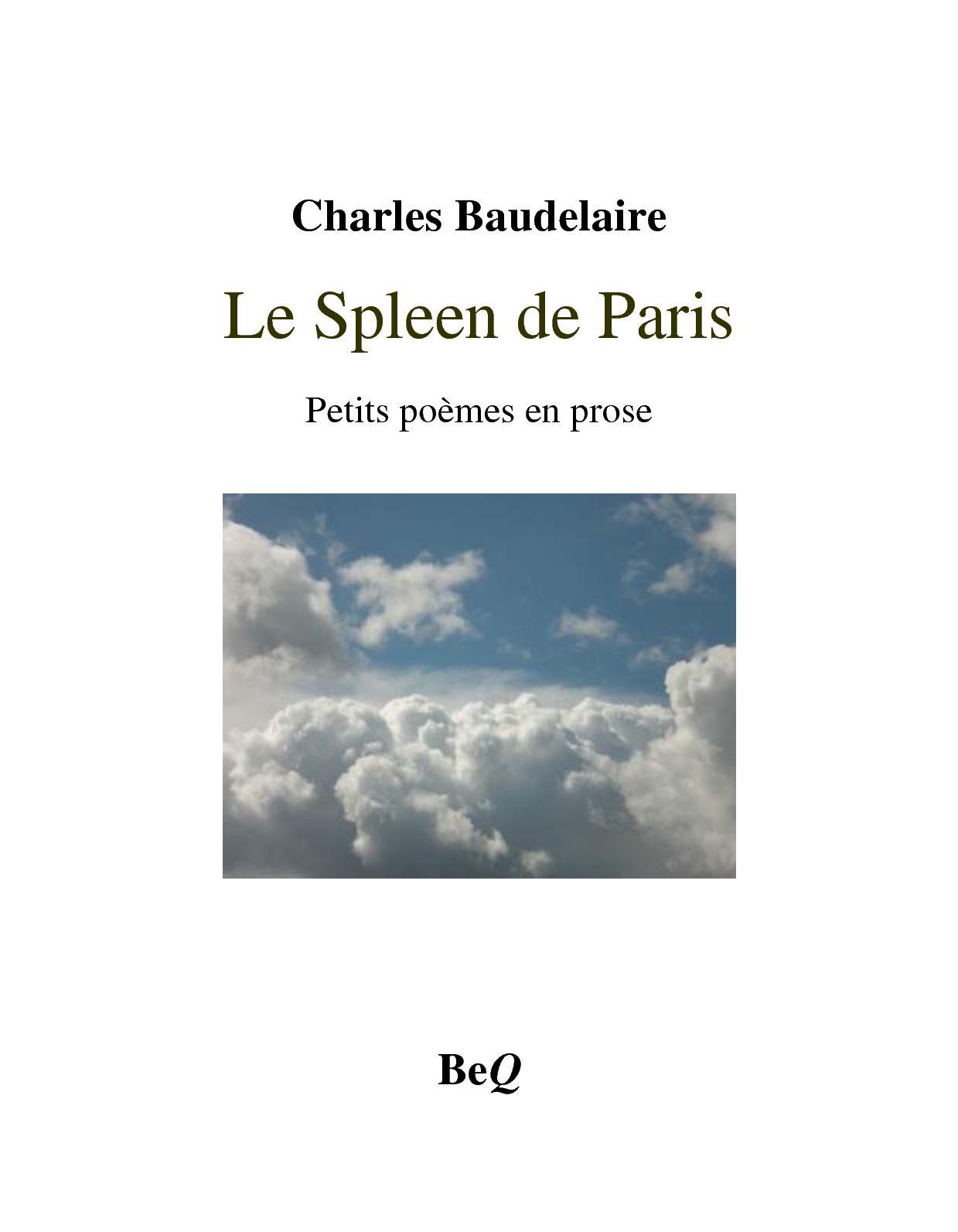 Calaméo Baudelaire Le Spleen De Paris