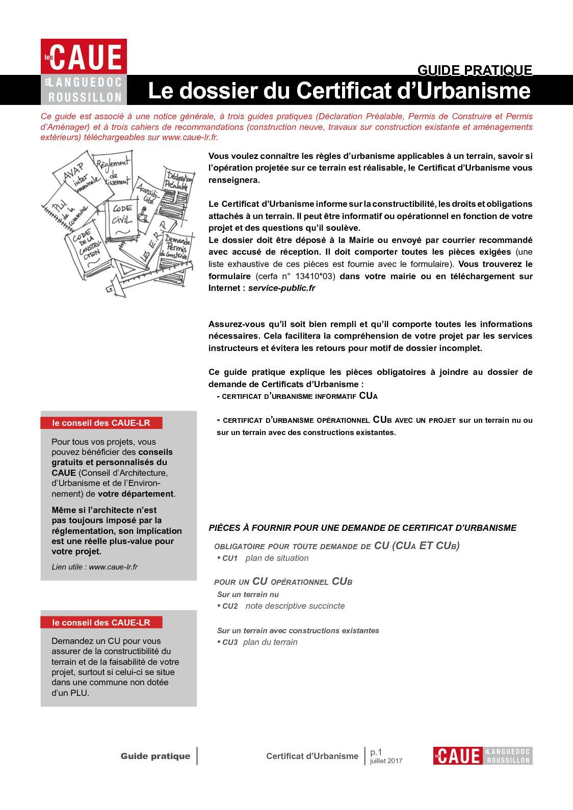 Calameo Guide Pratique Le Dossier Du Certificat D Urbanisme