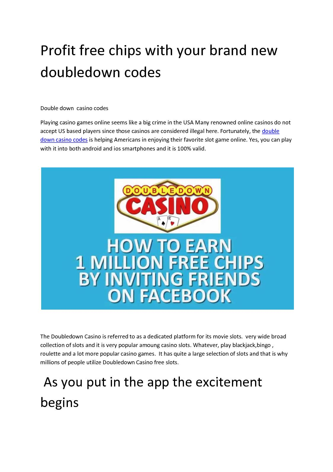 Calameo How To Get Latest Double Down Promo Codes