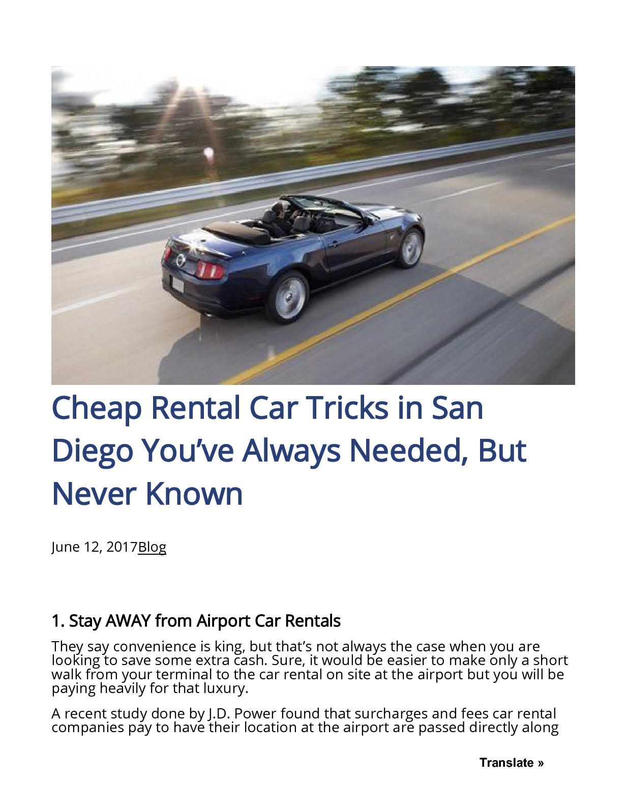 Cheap Rental Cars San Diego >> Calameo Cheap Rental Car Tricks In San Diego You Ve Always
