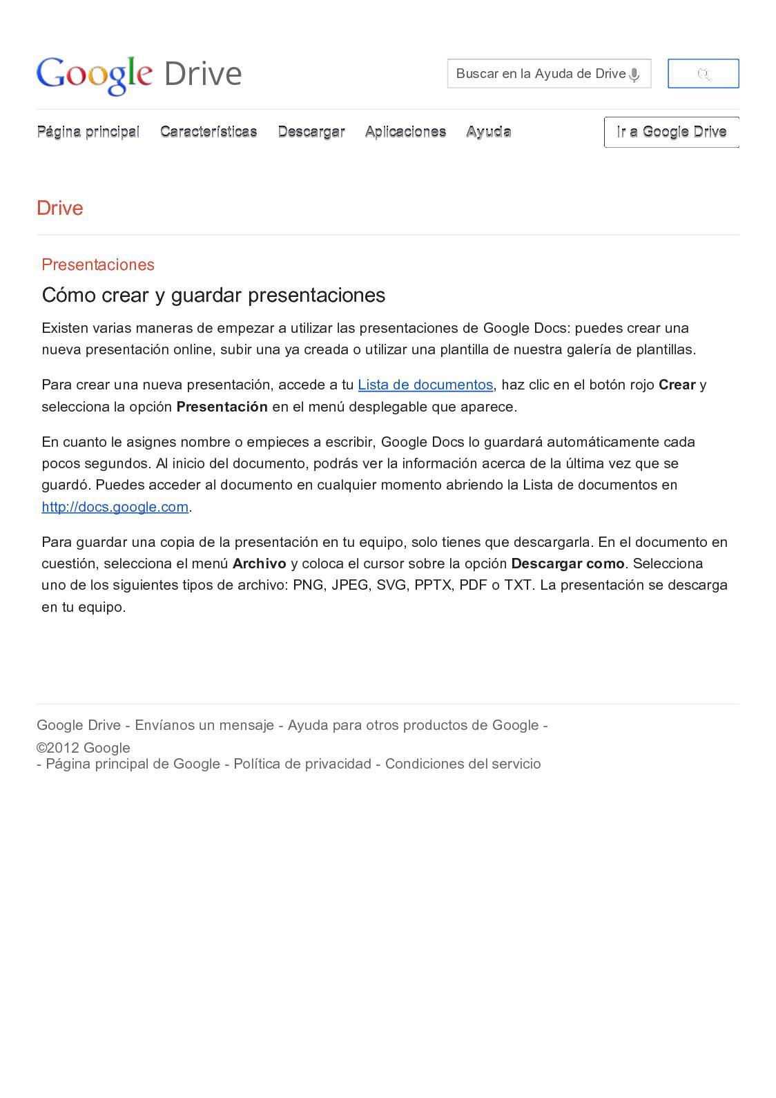 calaméo tutorial google docs presentaciones