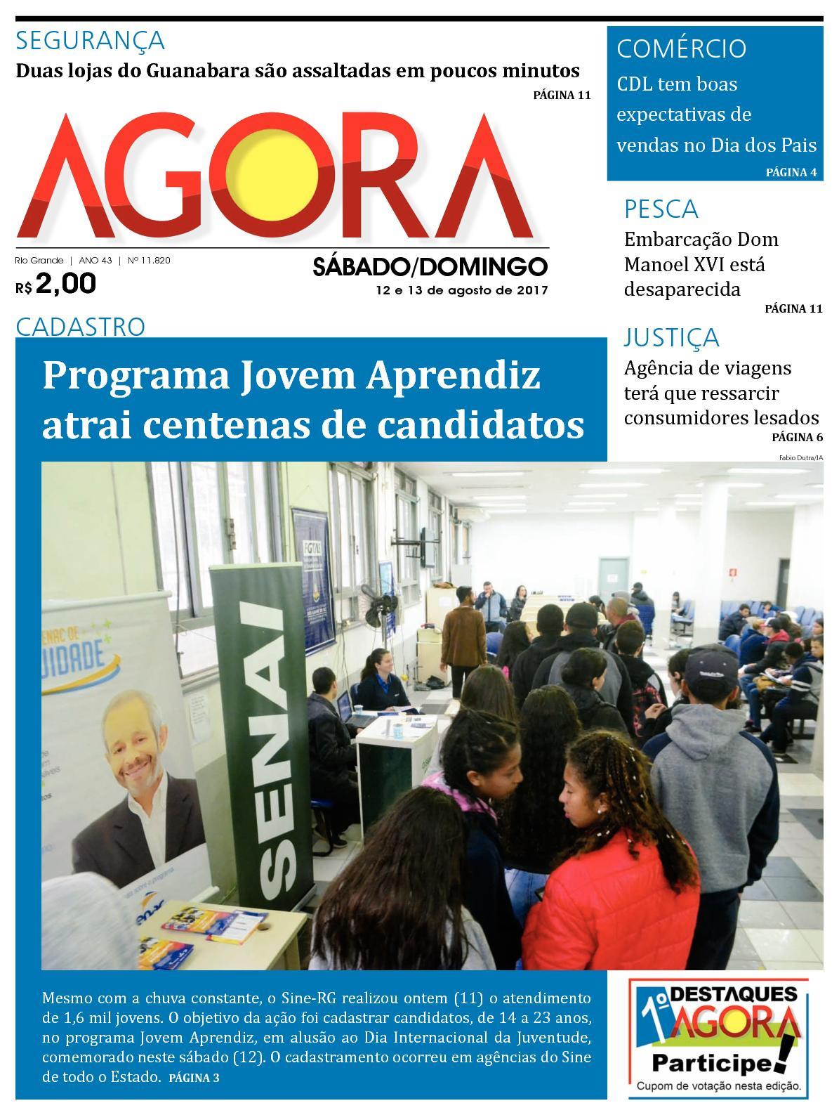 fb69991f8 Calaméo - Jornal Agora - Edição 11820 - 12 e 13 de Agosto de 2017