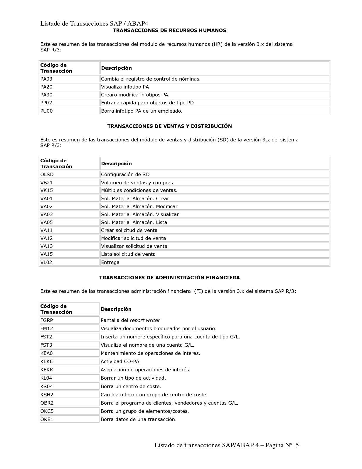 Sap Listado De Transacciones Calameo Downloader