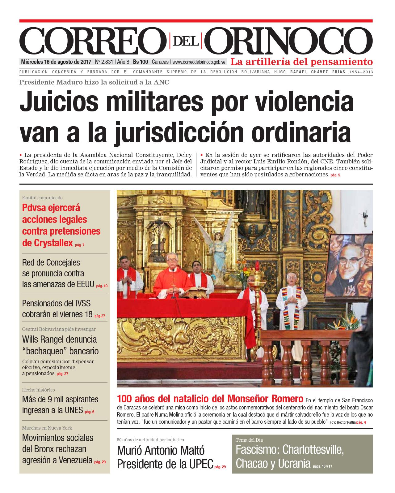 Calaméo - Edición Impresa Correo Del Orinoco N°2 831 279762417b896