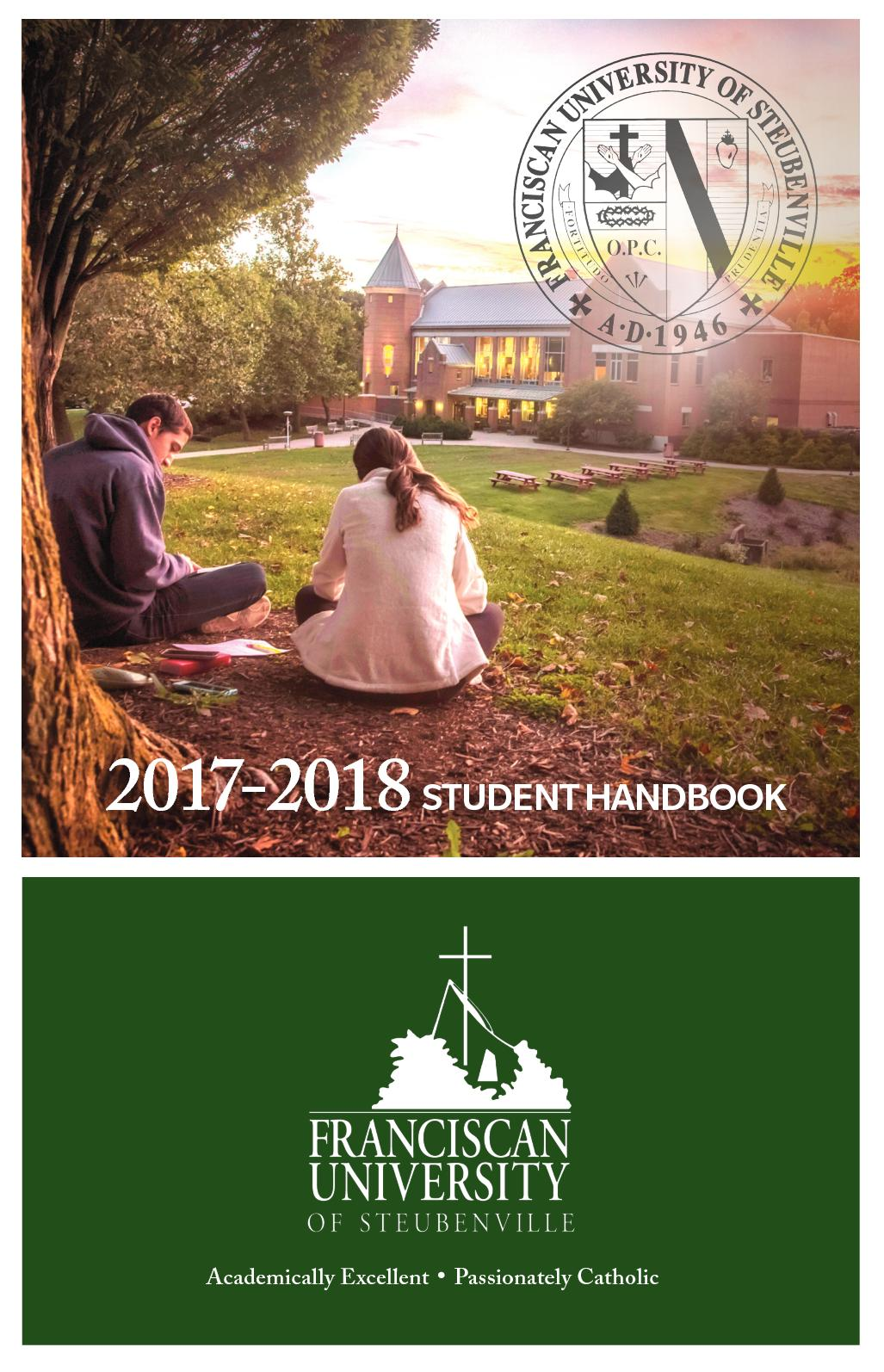 Franciscan University Campus Map.Calameo Student Handbook 2017 18 Franciscan University Of Steubenville