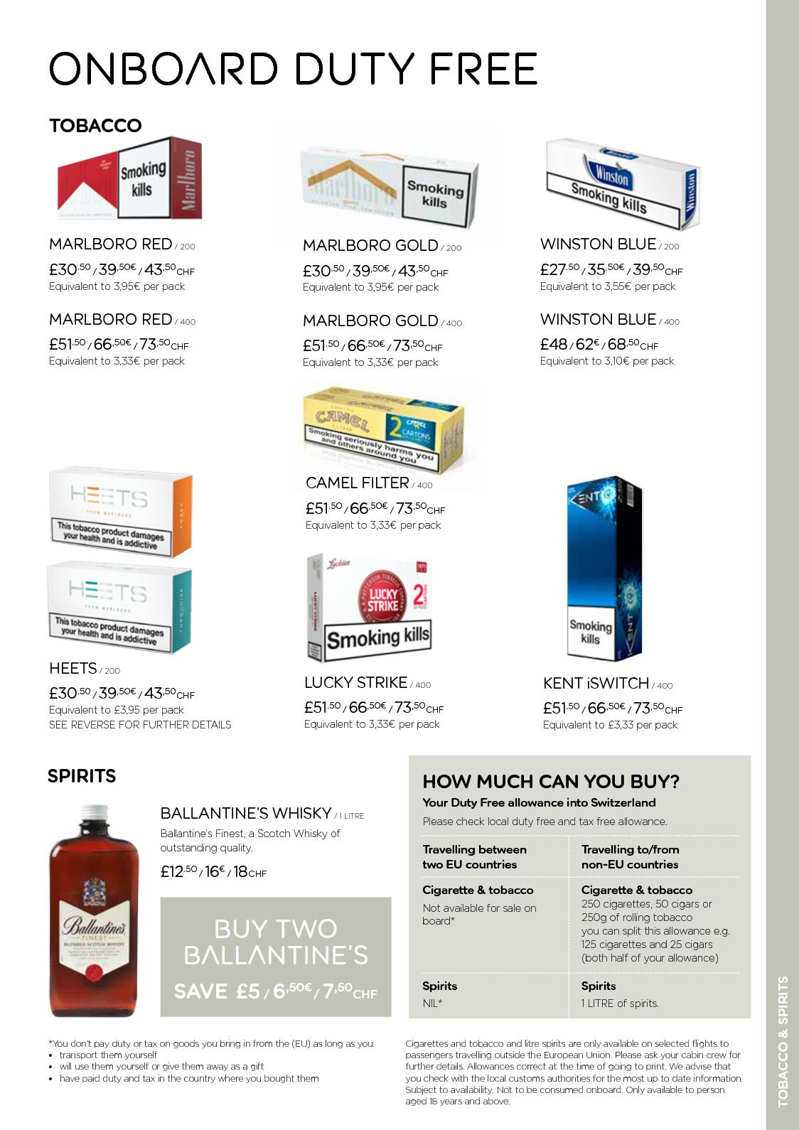 Calaméo - Easy Jet - Duty Free Summer Leaflet SWISS