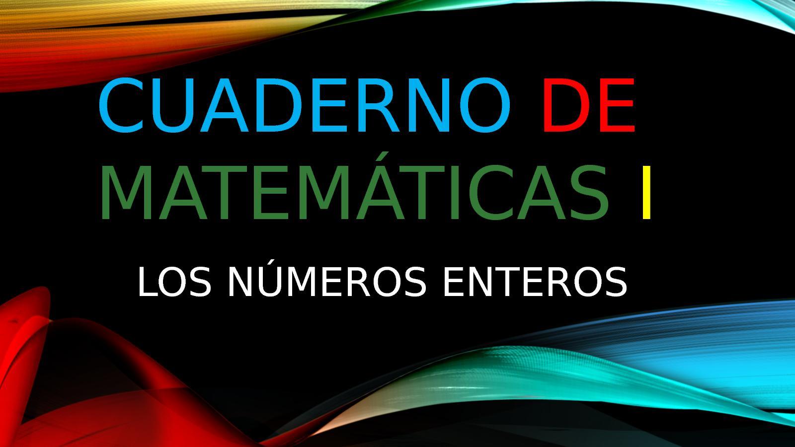 Cuaderno De Matemáticas I
