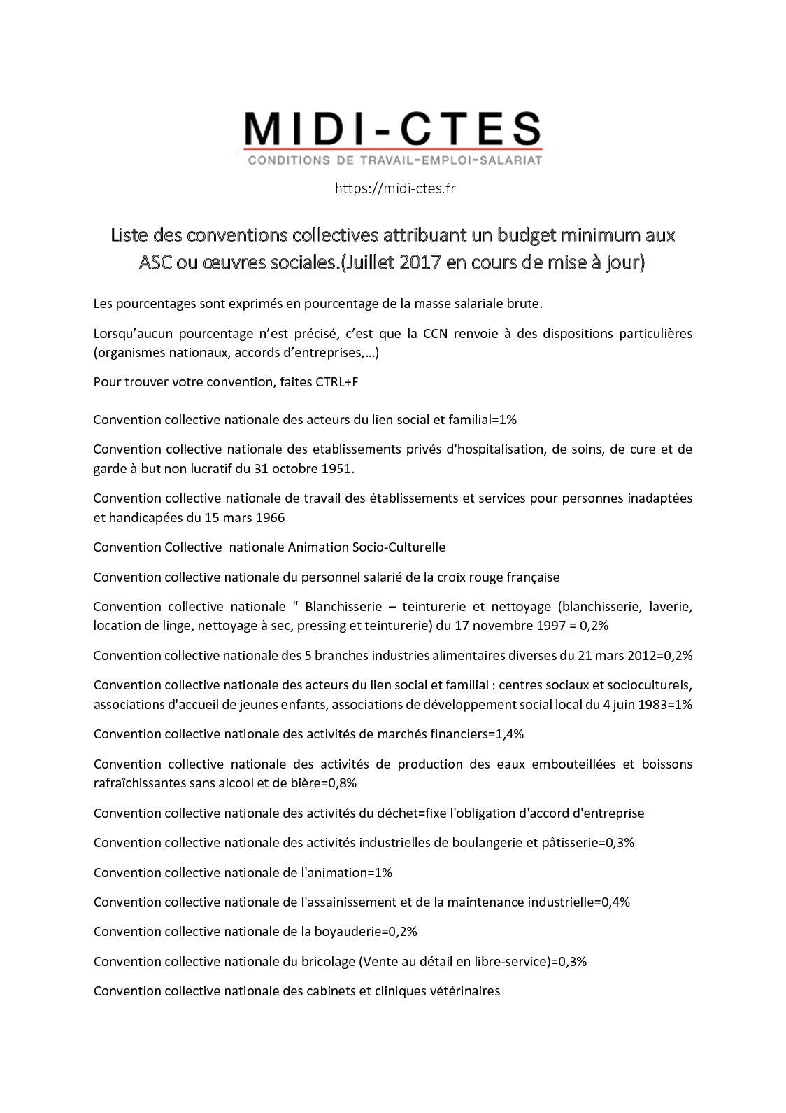 Calameo Conventions Collectives Avec Budget Asc