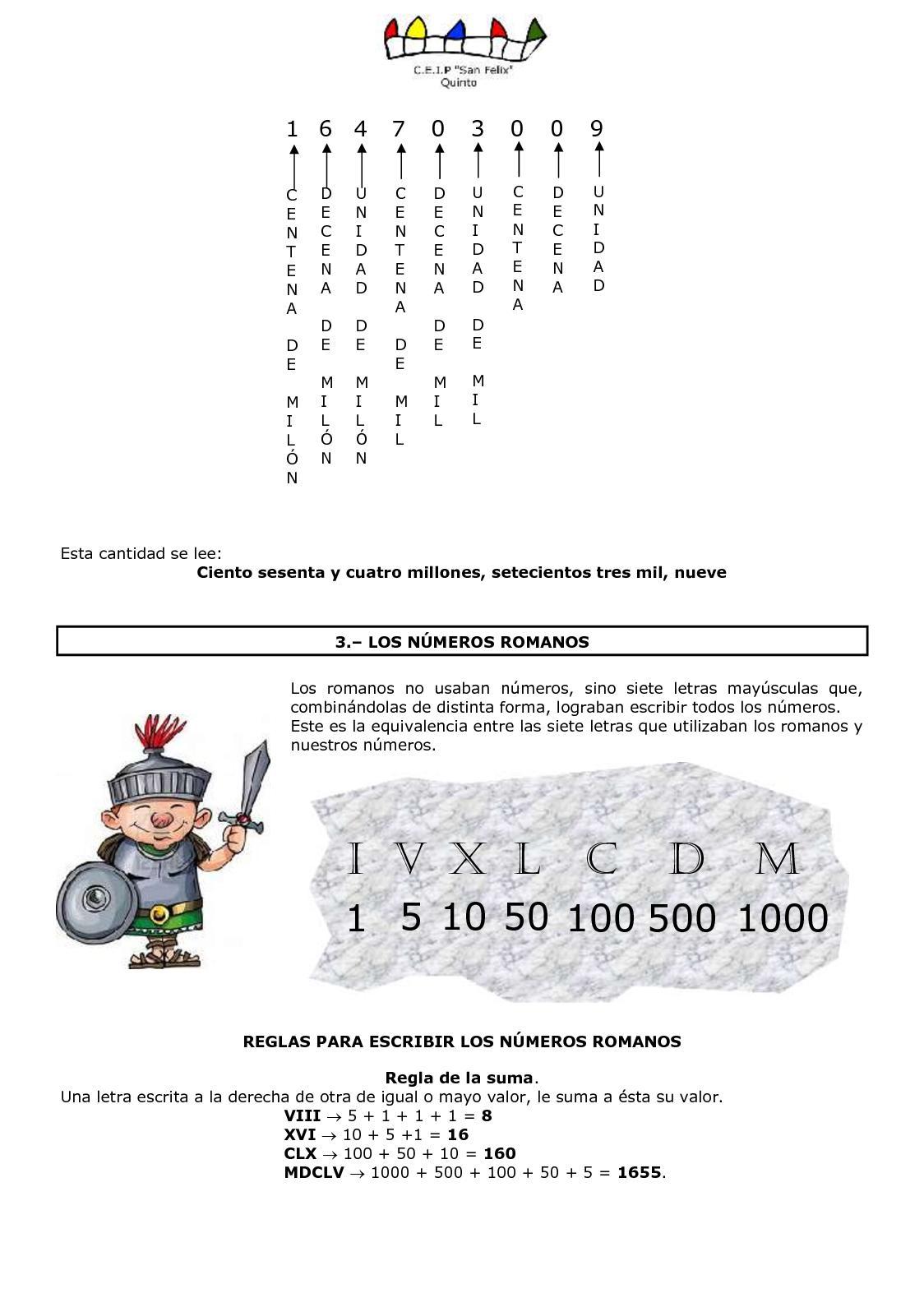 Como Se Escribe 91 En Numeros Romanos matemÁticas-primaria - calameo downloader