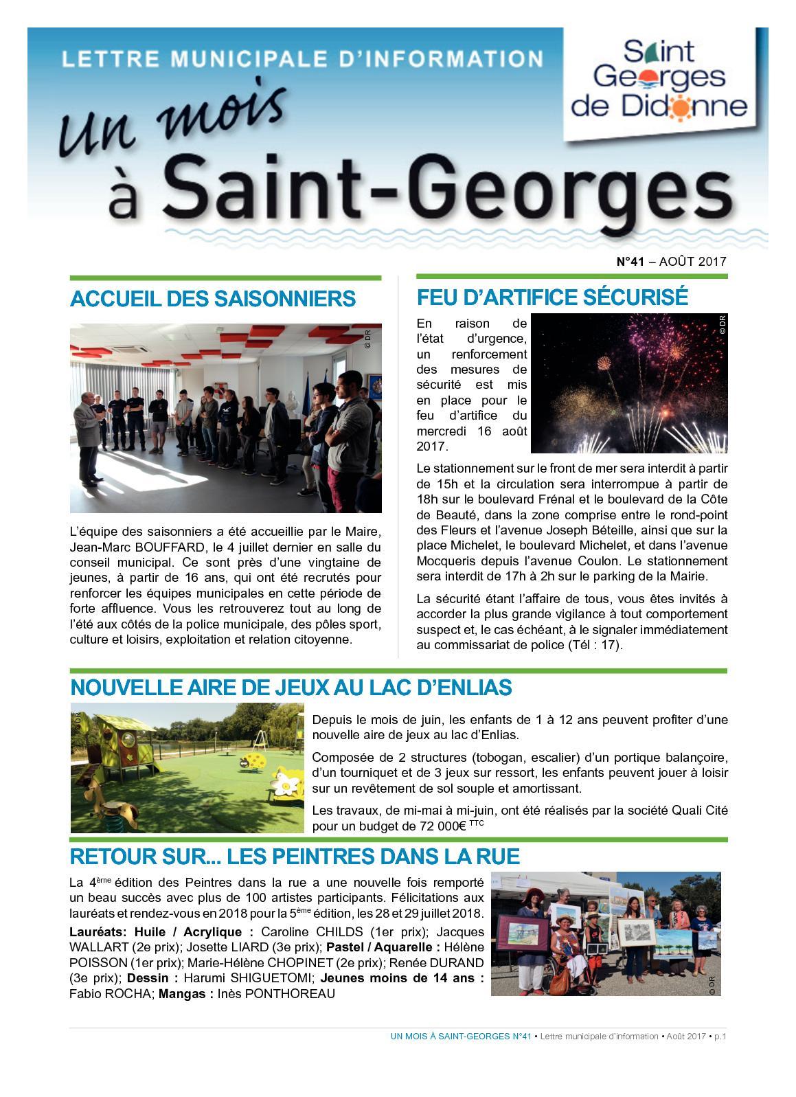 Anima Conseil Saint Georges De Didonne calaméo - n°41 aout 2017