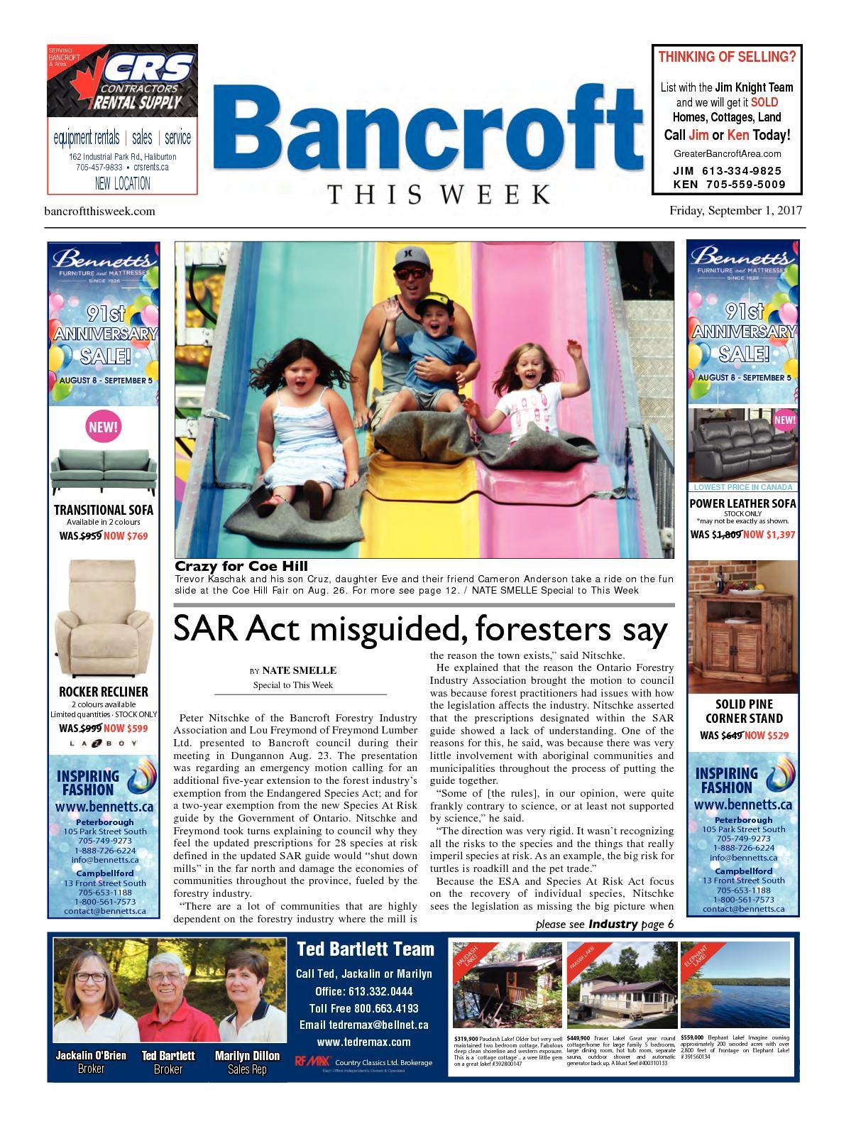 Calaméo - Bancroft This Week Sep 1, 2017