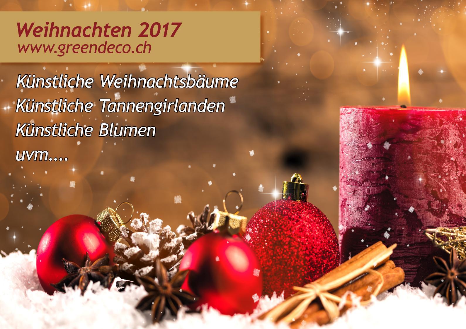 Weihnachtsdeko Deko Tannengirlande Nordmann 180cm Künstliche Girlande