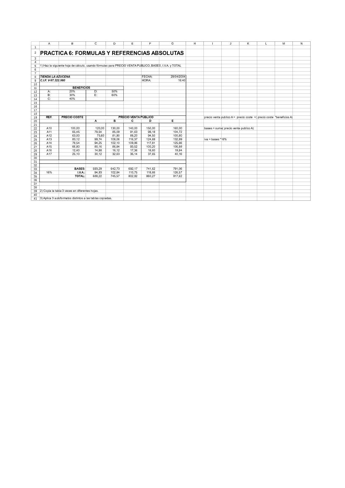 Calaméo   Practica 20 Formulas