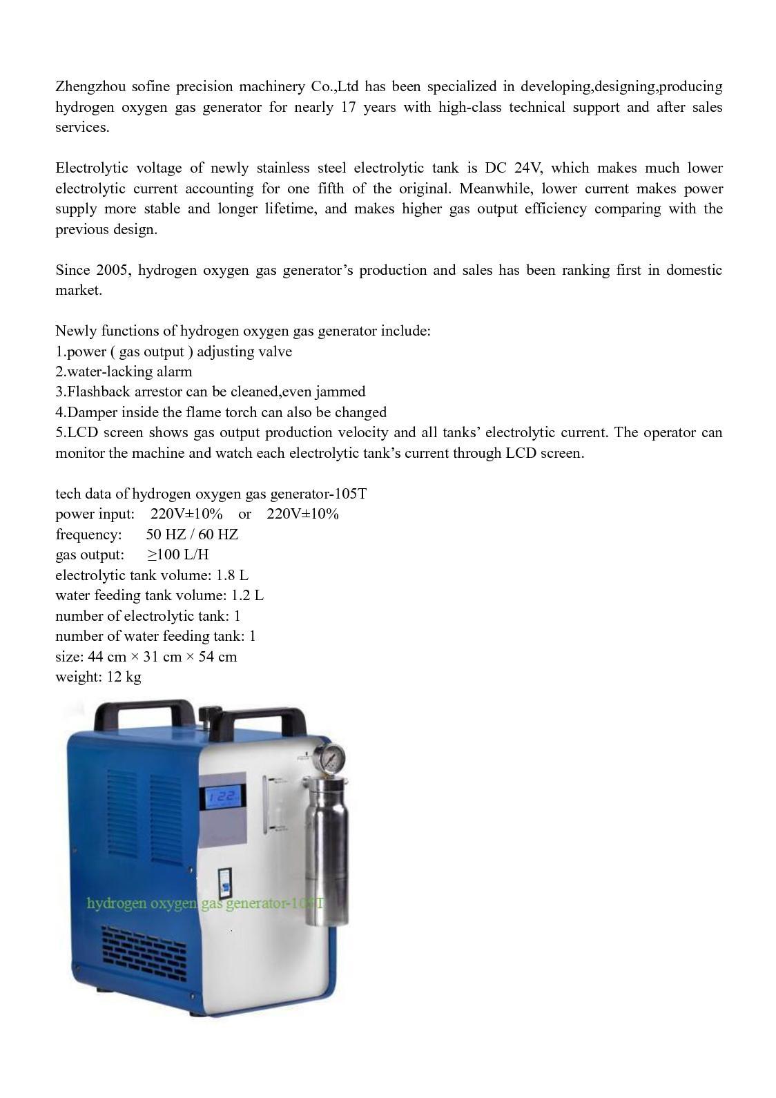 Calaméo - Hydrogen Oxygen Gas Generator (105t 605t)