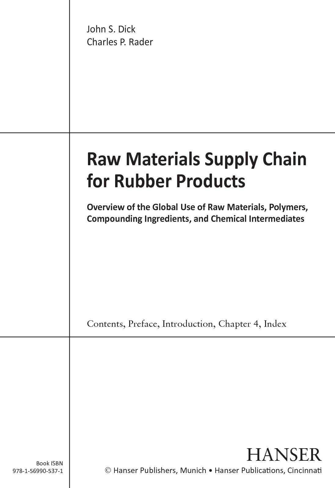 Calaméo - Raw Materials Supply Chain For Rubber Products