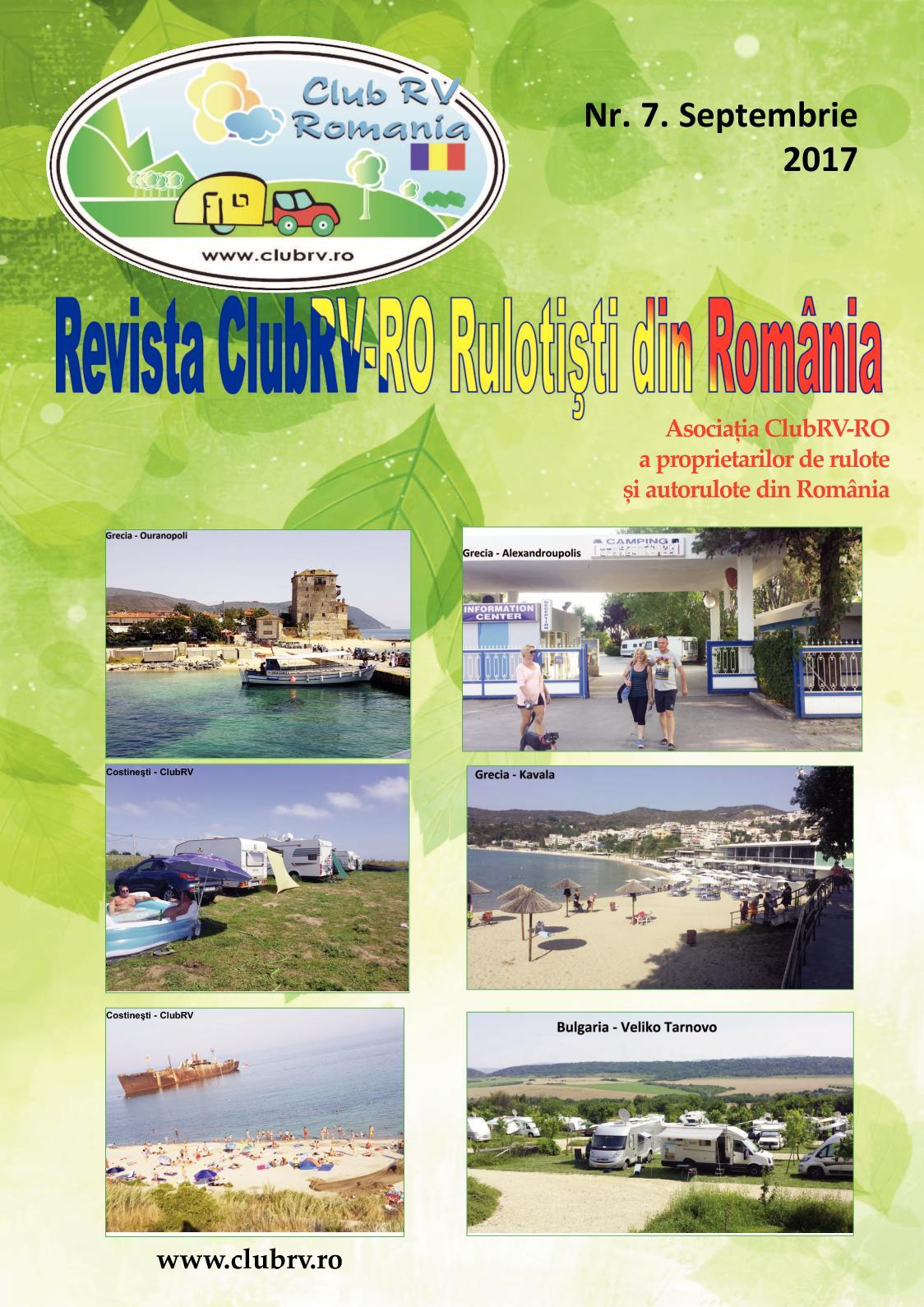 Calameo Revista Nr 7 Clubrv Ro Rulotisti Din Romania Sept 2017