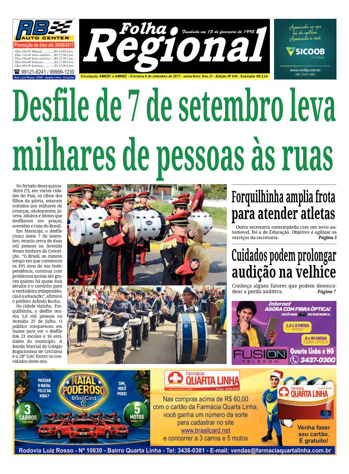 Calaméo - Folha Regional Ed.930 - 08 09 2017 31a31d8f88