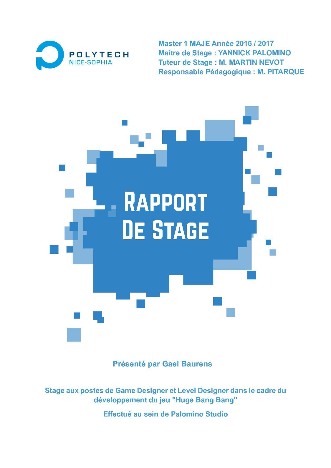 Calaméo Rapport De Stage Maje 1 Palomino Studio