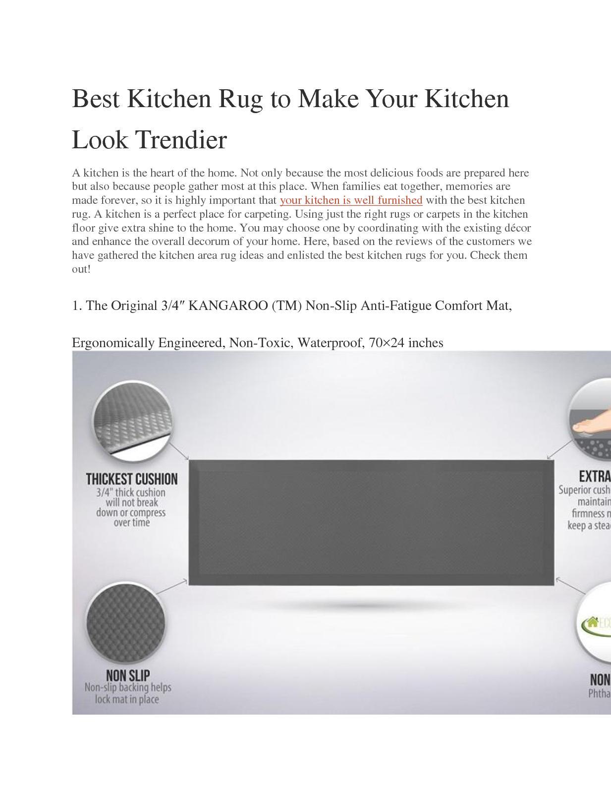 Calameo Best Kitchen Rug To Make Your Kitchen Look Trendier