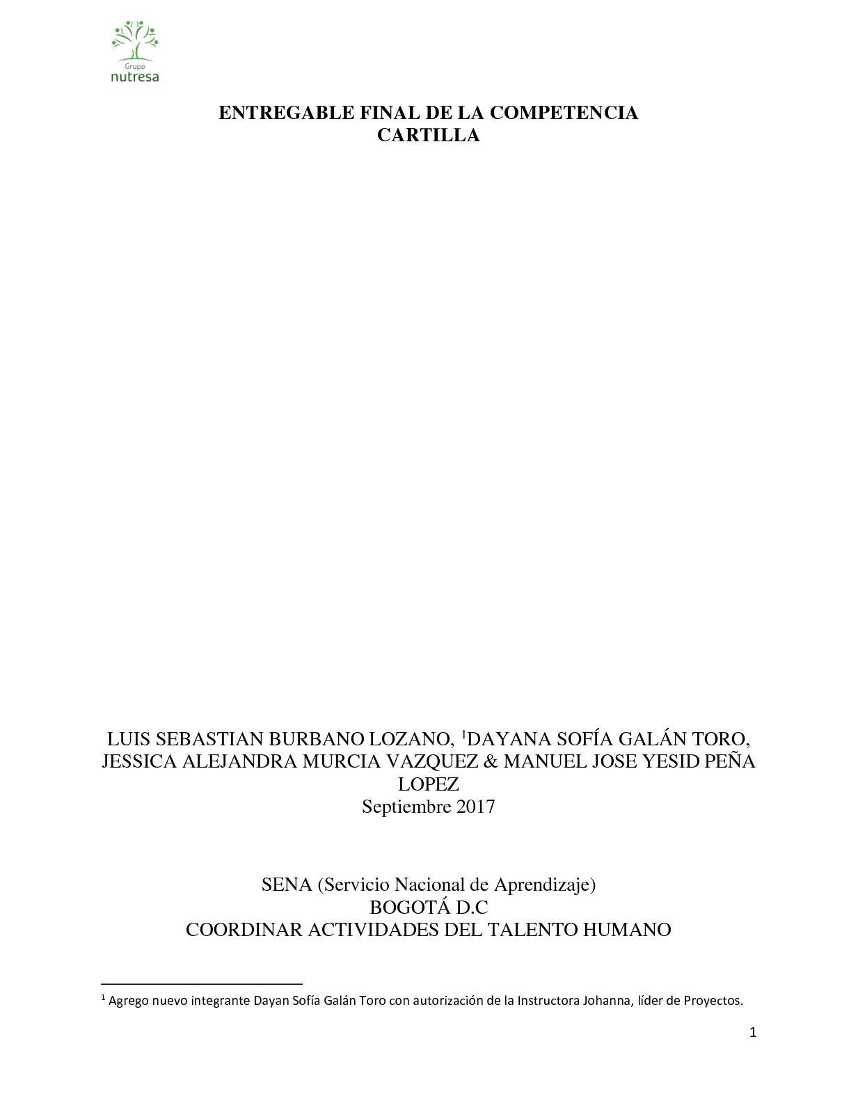 Calaméo Cartilla Talento Evidencia