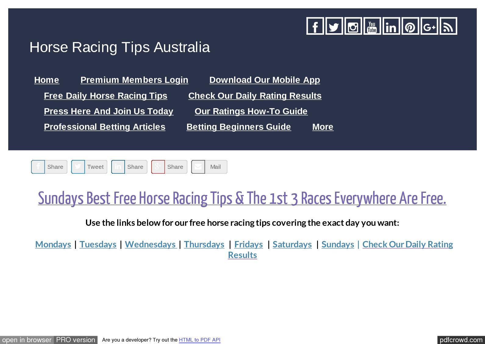 Calaméo - Sundays September 17th Free Horse Racing Tips
