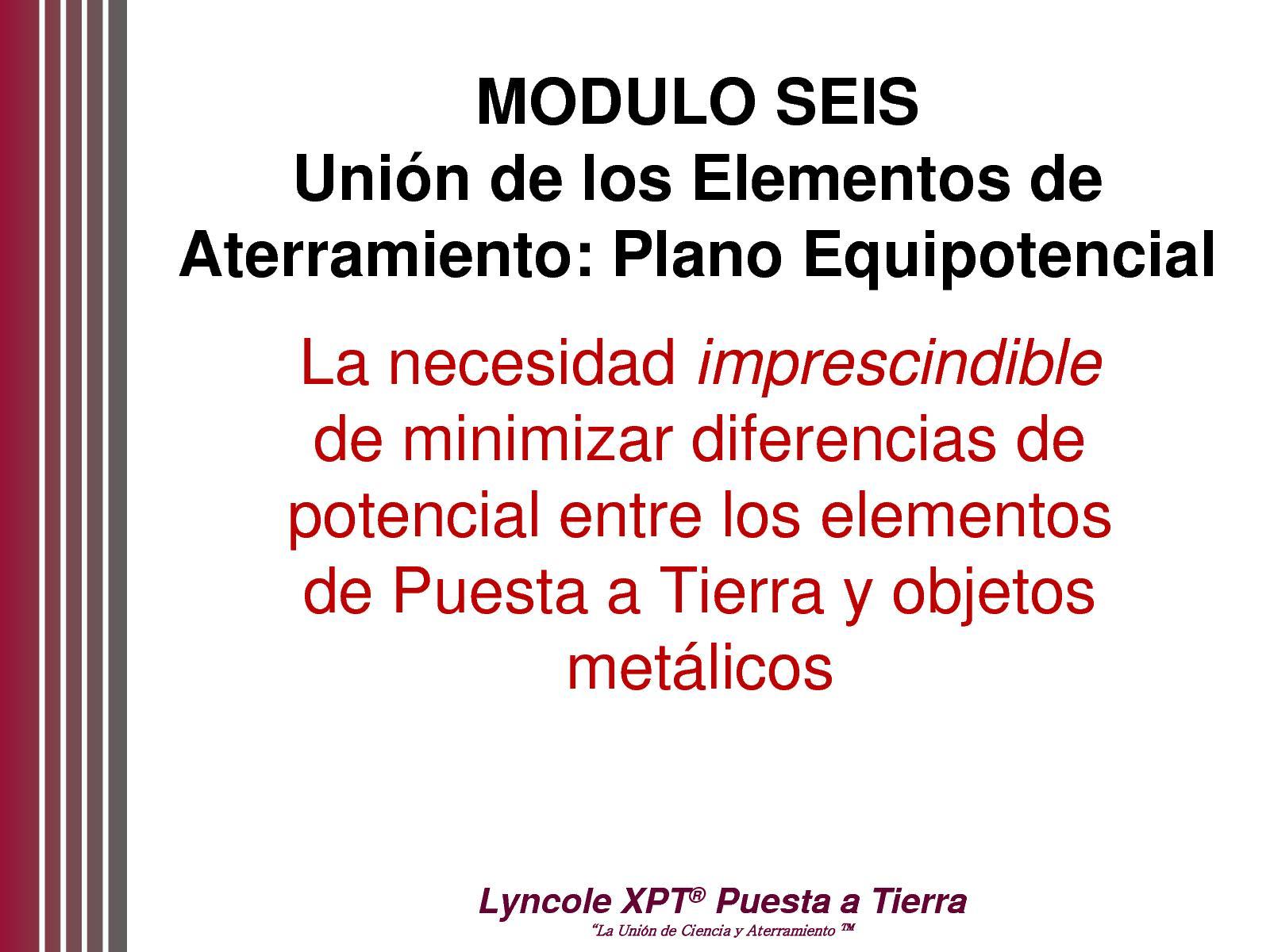 Módulo 6  -  Unión de los Elementos de Aterramiento - Plano Equipotencial  -  VAF