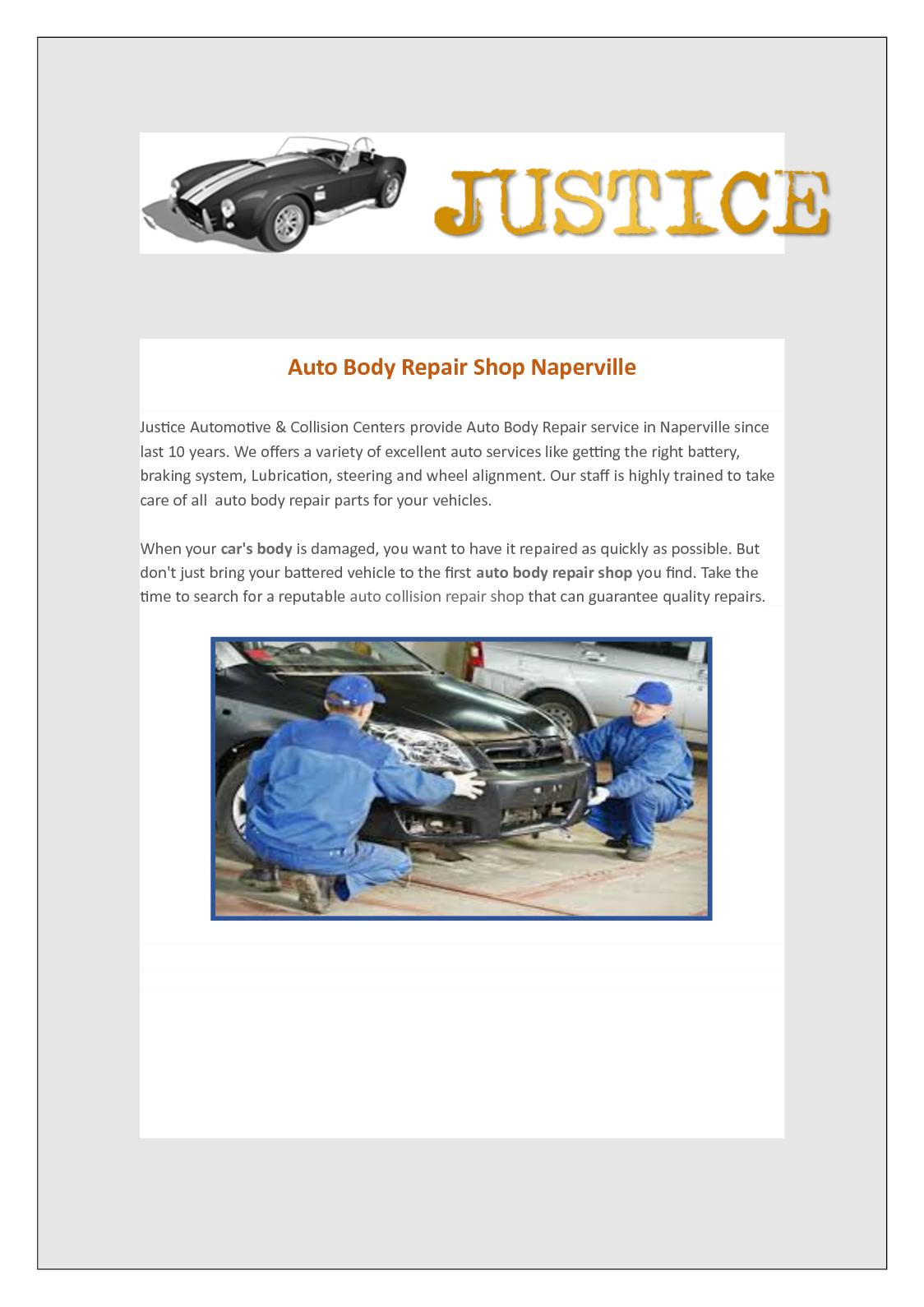 Auto Body Repair Shop >> Calameo Auto Body Repair Shop Naperville