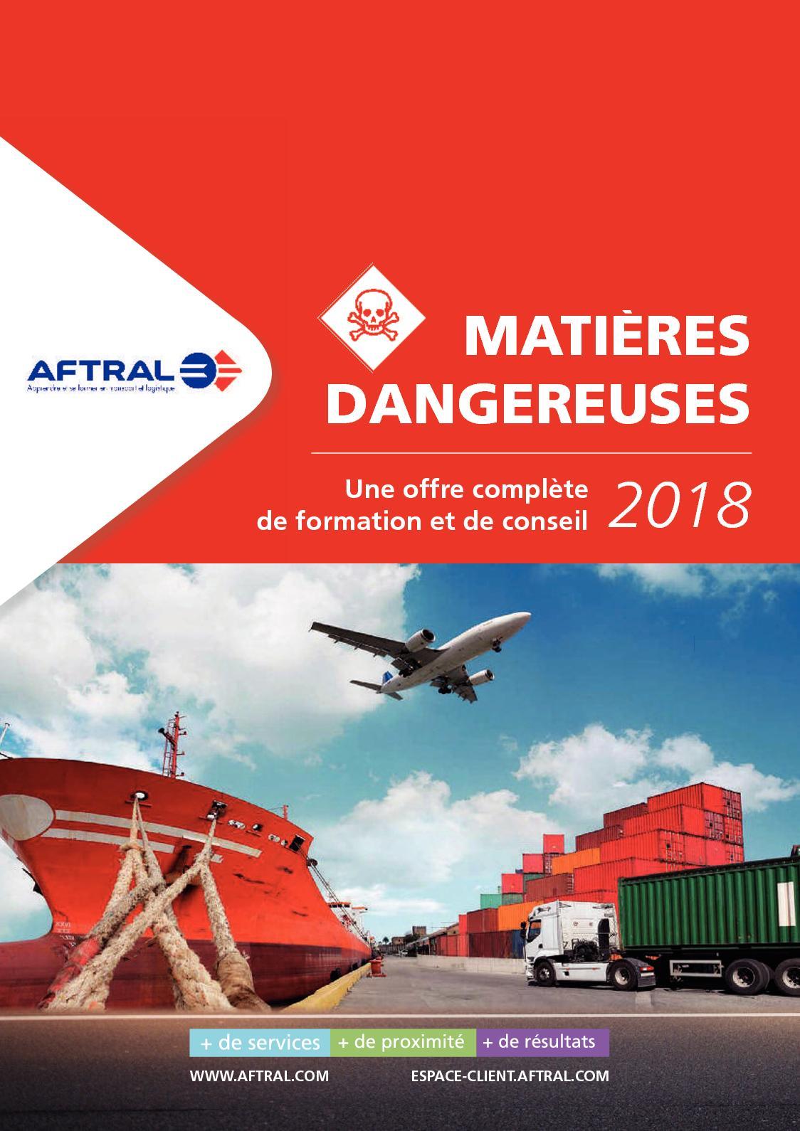 Offre De Formation Aftral Matieres Dangereuses 2018