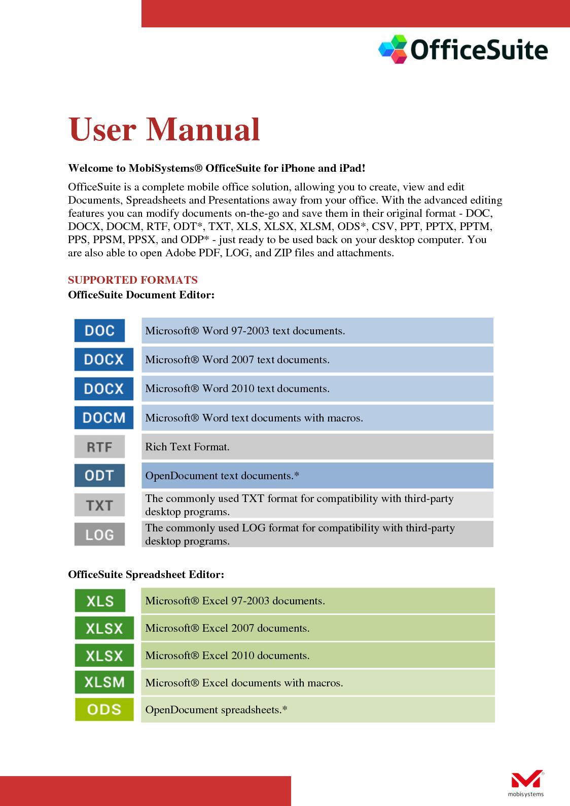 Calaméo - Office Suite User Manual
