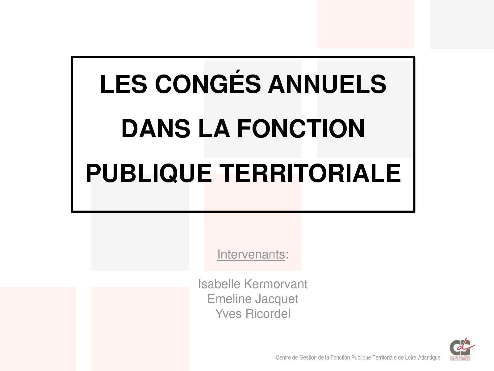 c8c34f949c9 Calaméo - Les Conges Annuels Fonction Publique Territoriale