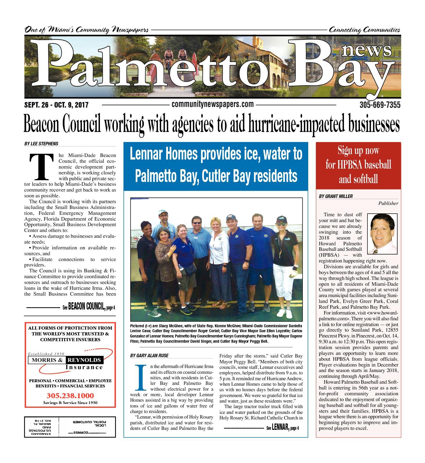 Calaméo - Palmetto Bay News 09 26 2017