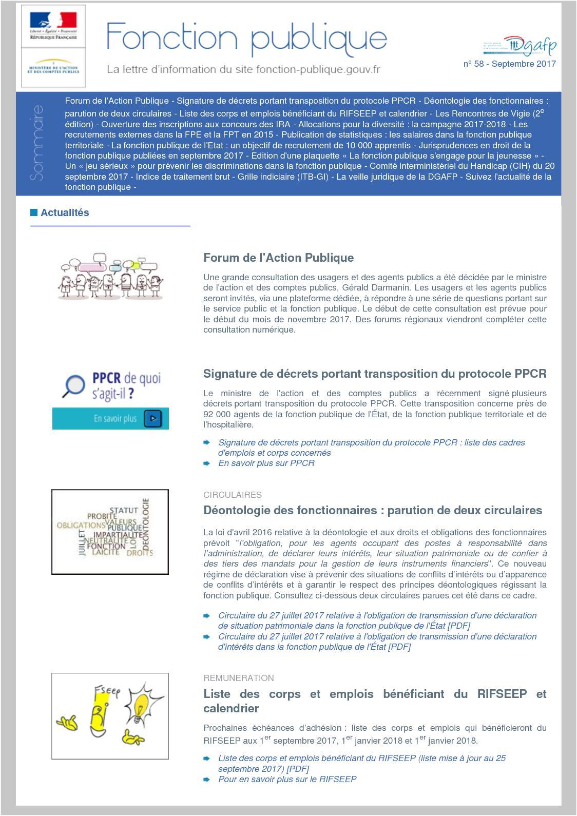 492cd73ebab Calaméo - Fonction Publique N° 58 De Septembre 2017