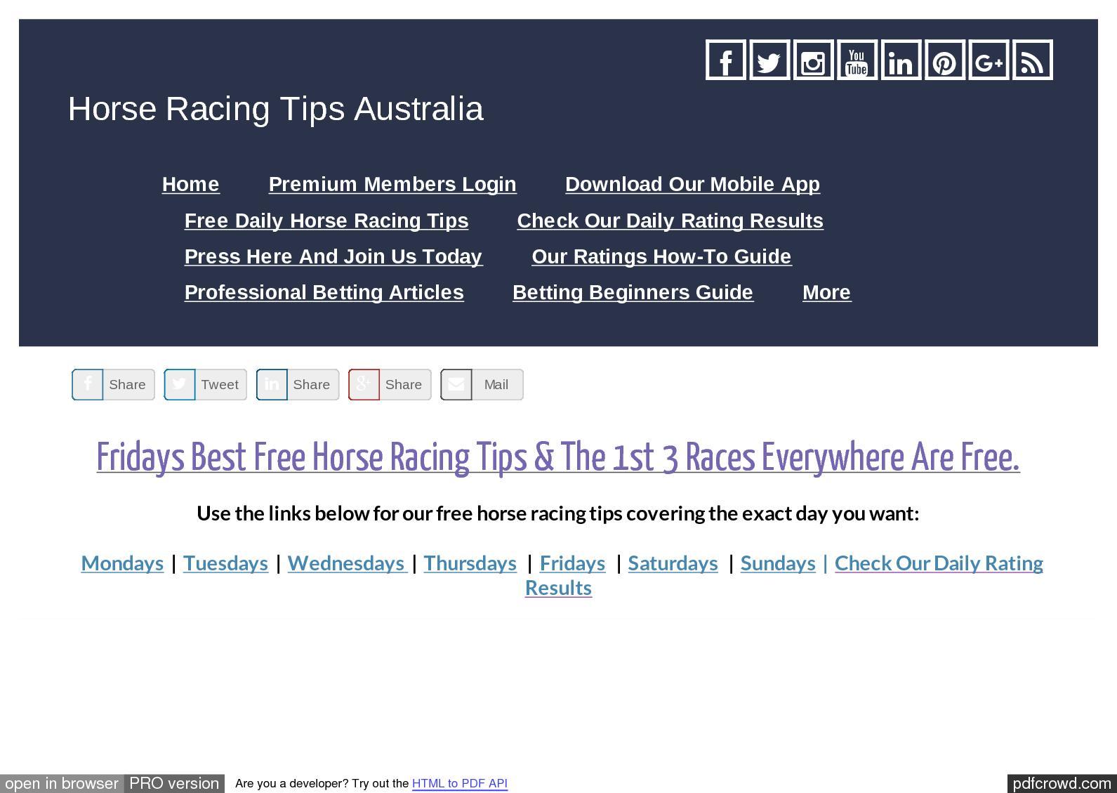 Calaméo - Fridays September 29th Free Horse Racing Tips