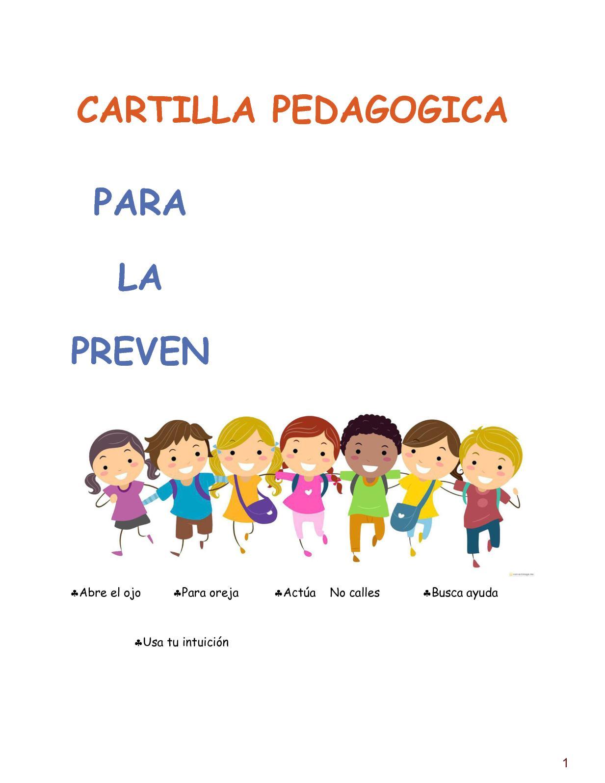 Calaméo Cartilla Pedagogica Prevencion Del Abuso Sexual