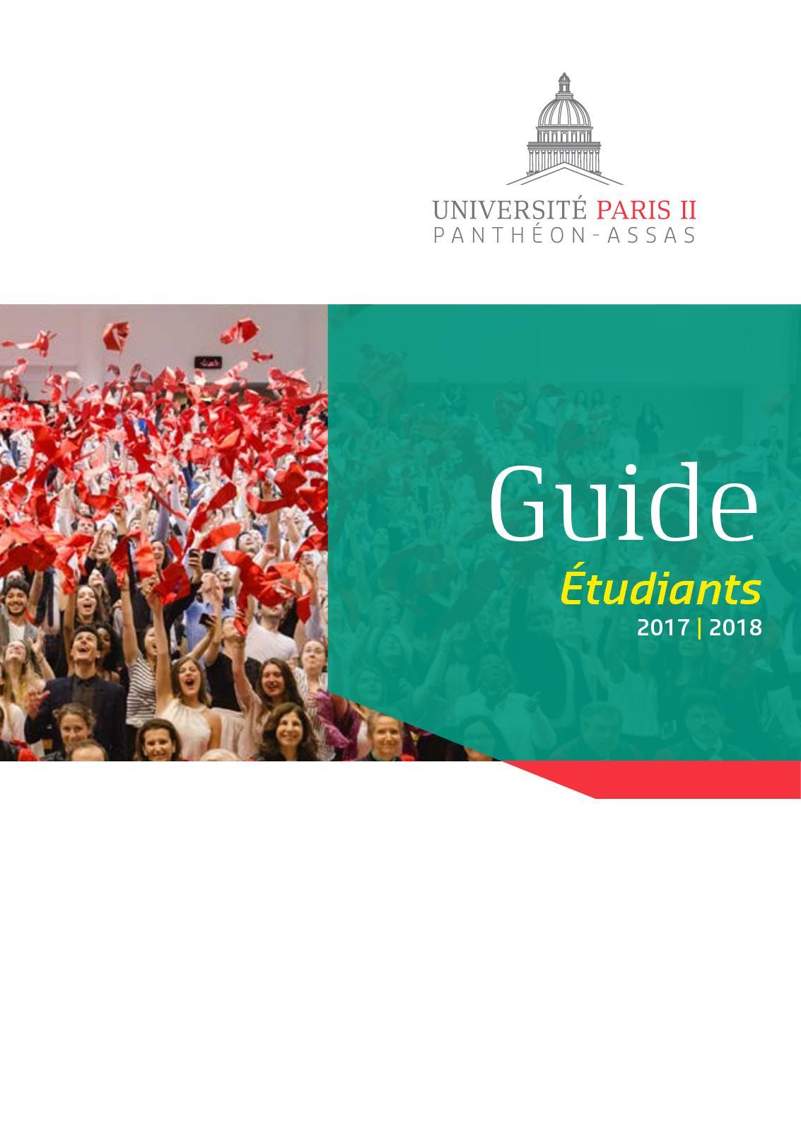 Assas Calendrier Universitaire.Calameo Guide De L Etudiant 2017 Up2pa