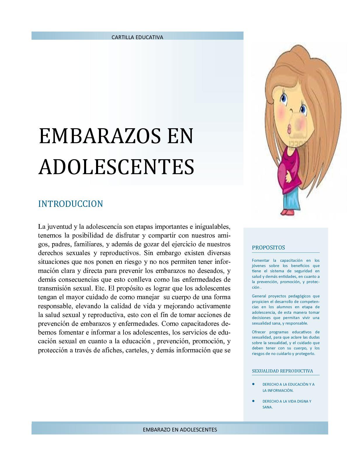 844873acd Calaméo - Cartilla Educativa Embarazo En Adolescentes