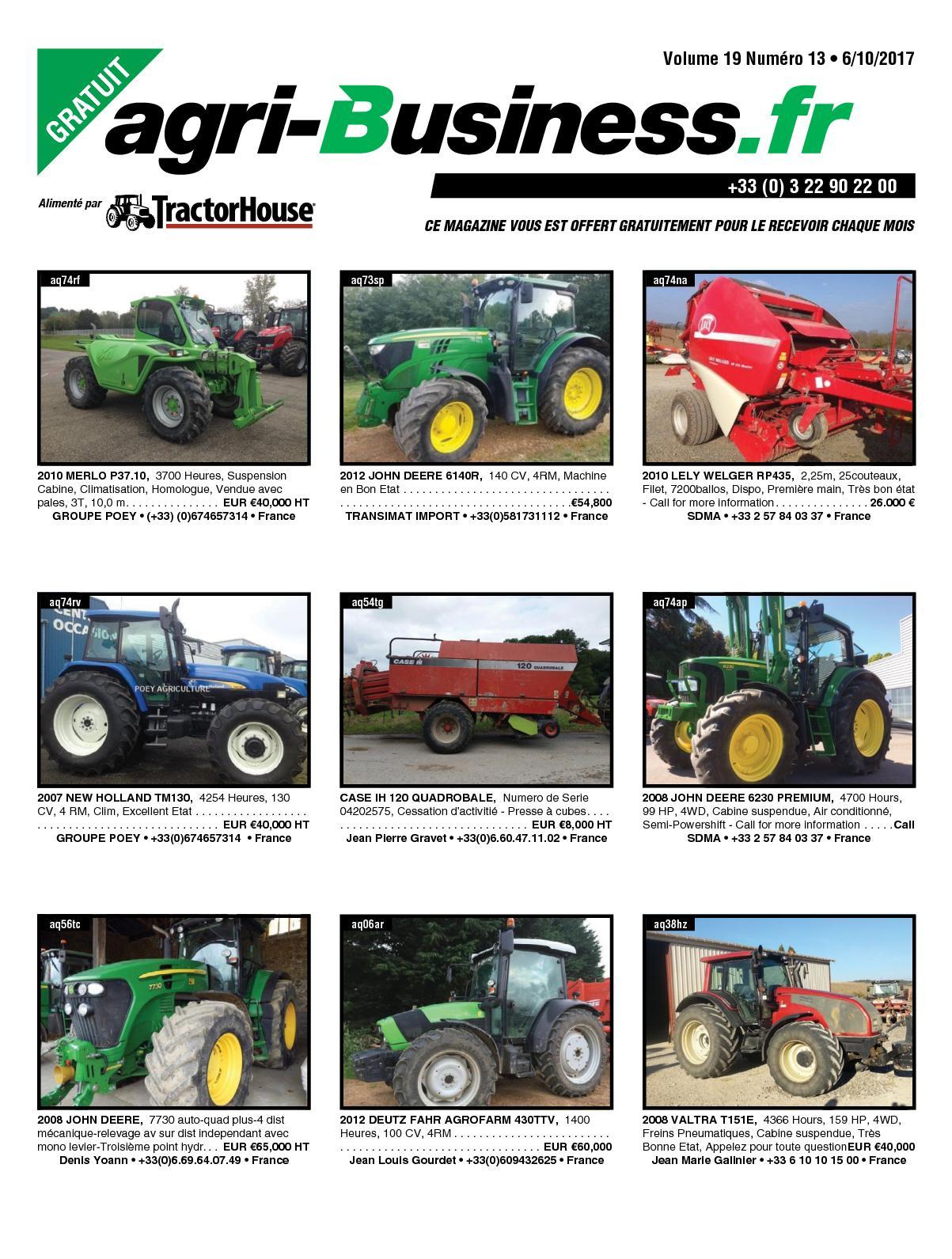 Calaméo Agri Business Volume 19 Numéro 13 06 10 2017