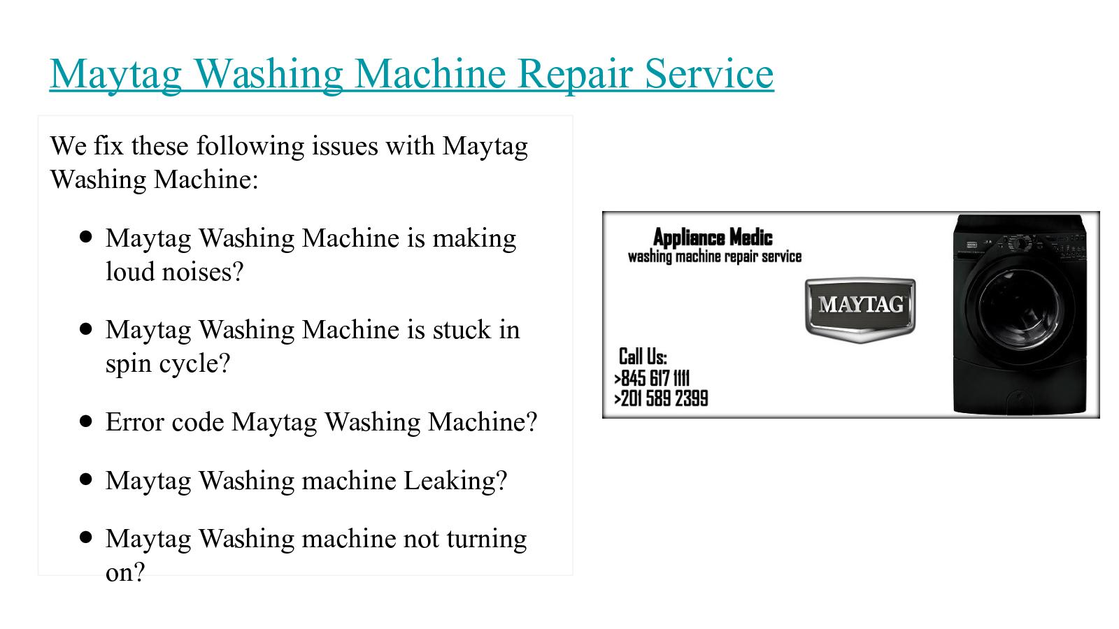 Calaméo - Maytag Washing Machine Repair Service